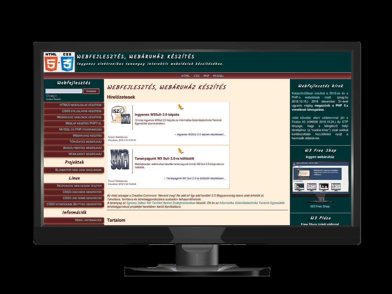 cac7998f0d Ingyen webáruház - W3 Free Shop